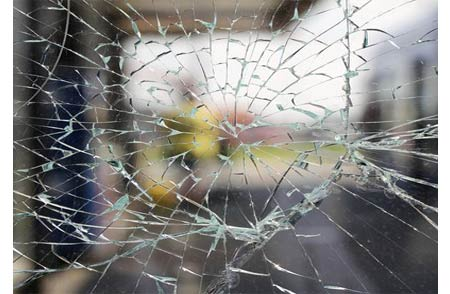 Safety glass protection on home and business