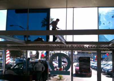 Business window tinting
