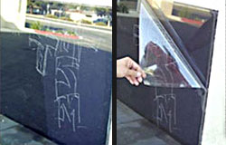 Anti-graffiti film protection